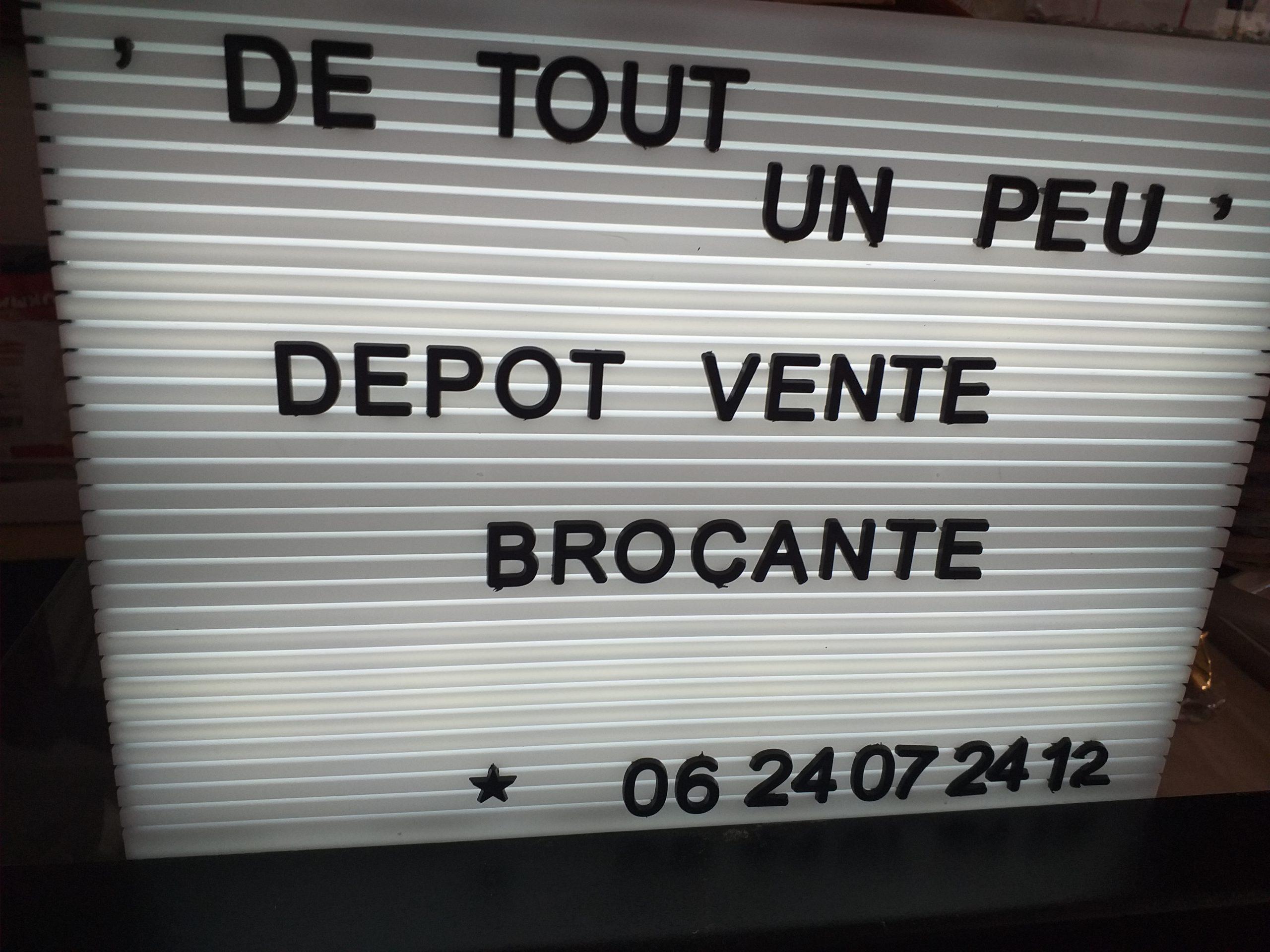 *DE TOUT UN PEU*DEPOT VENTE-BROCANTE