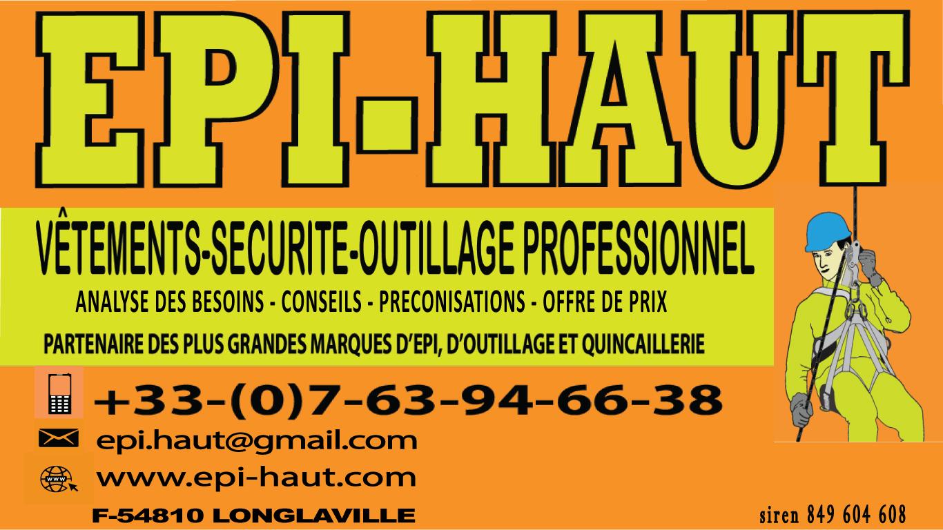 EPI-HAUT VETEMENTS, SECURITE ET HYGIENE AU TRAVAIL